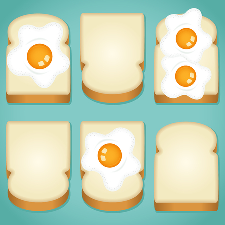 toasted bread: Variously toasted bread with eggs background