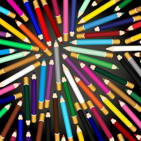 colored pencils: Colored pencils background
