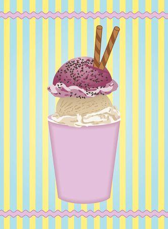berry fruit: Ice cream label