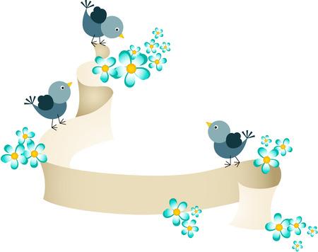 Tre piccioni con pergamena primavera