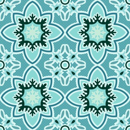 fabric art: Seamless retro patterns blue