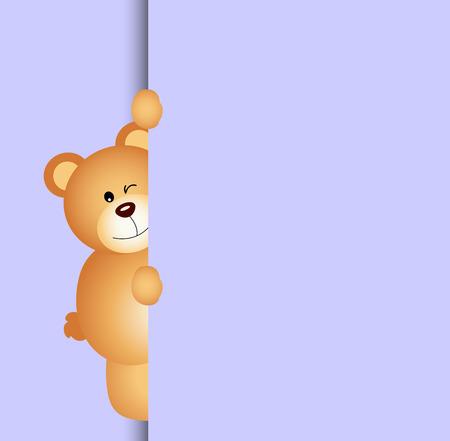 jubilation: Teddy bear peeking in October