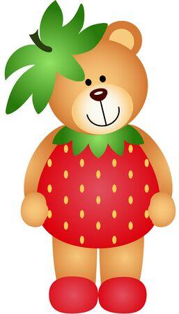 jubilation: Strawberry Teddy Bear