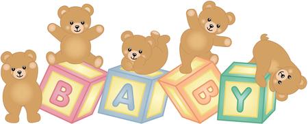 Blocchi del bambino con orsacchiotto