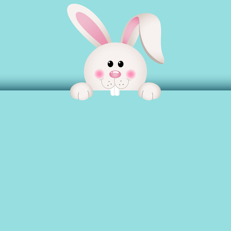 Cute bunny peeking in October