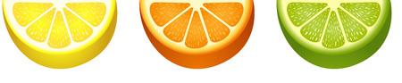 sliced fruit: Sliced ??fresh citrus fruit