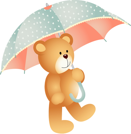 jubilation: Teddy bear with umbrella