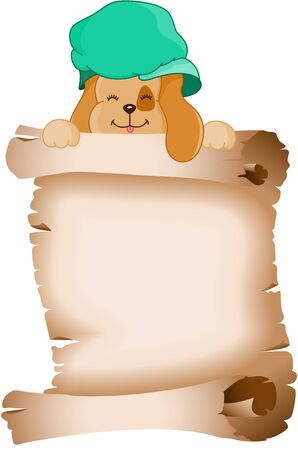 jubilation: Cute dog holding a parchment