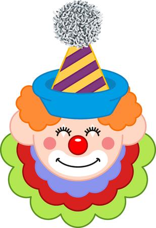 clown face: Happy Clown Face Illustration