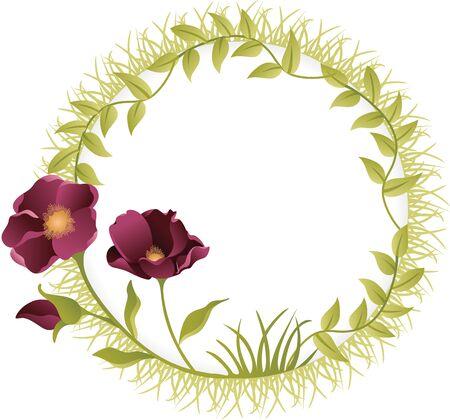 Flor marco redondo