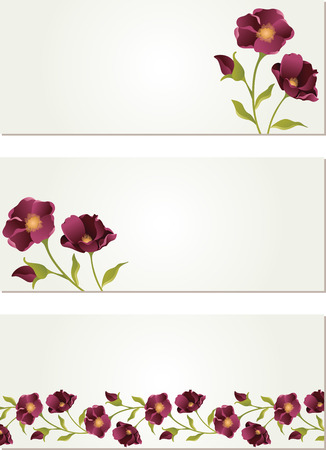 eva: Nature banners with flower Illustration