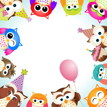 party background: Cute Owls Party Background