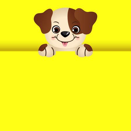 Cute dog peeking in October