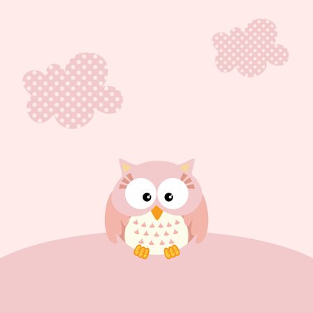 baby girl: Baby girl owl background