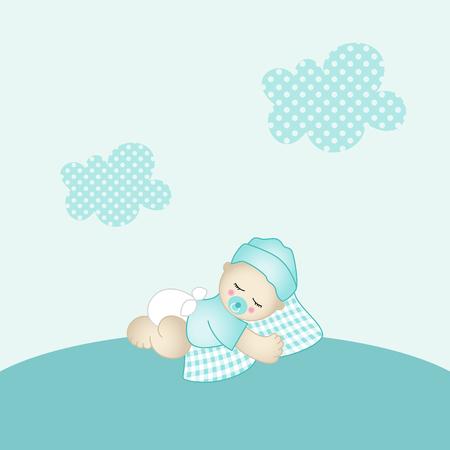 night art: Baby boy background