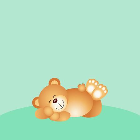 Sleeping teddy bear background Illustration