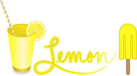 Fresh lemon illustration Vetores