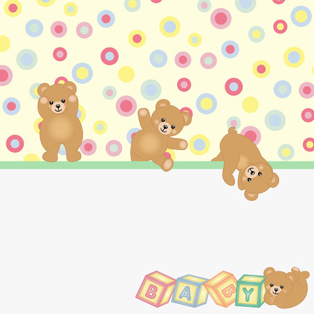 sleeping animals: Teddy bear baby background