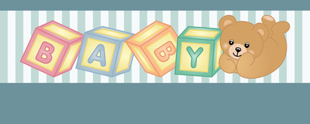 baby bear: Teddy bear baby shower party banner