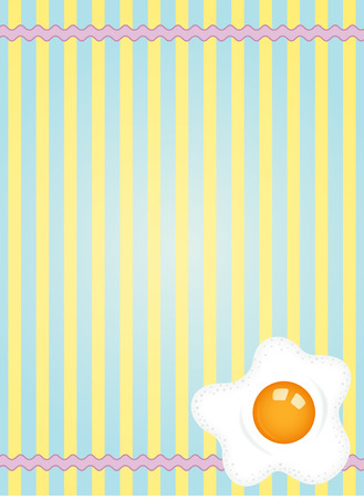 fried: Fresh fried egg label design