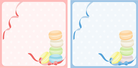 macaron: Macaron pink and blue background