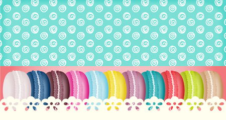 sweetmeats: Colorful macarons banner france