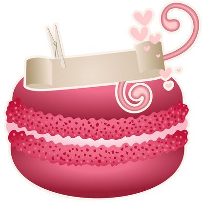 Macaroon with ribbon design Illustration