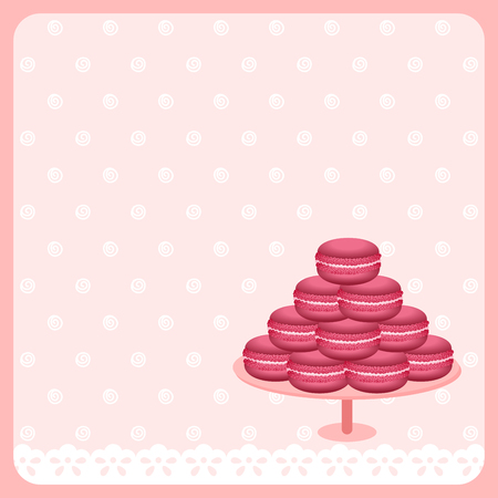 macaroon: Cute macaroon background