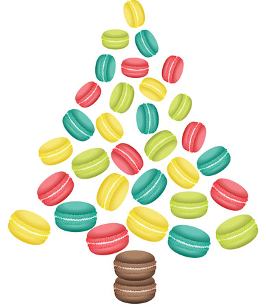 Macaroon Christmas tree shaped