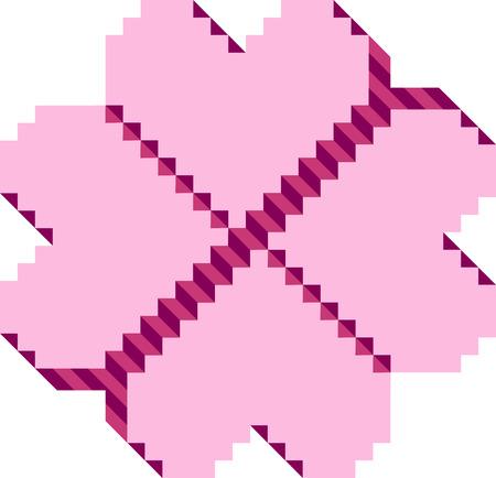 constructive: Hearts shaped building blocks Illustration