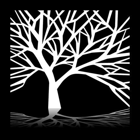 poverty: Tree at night Illustration