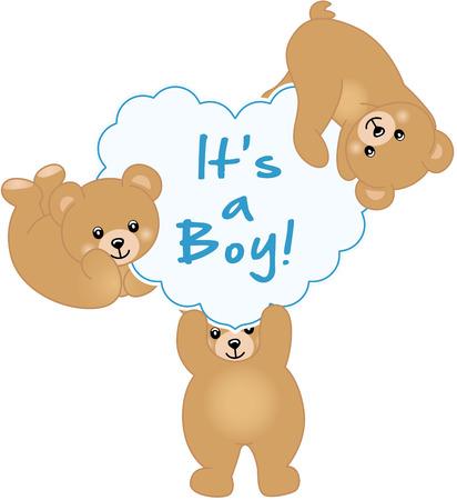 babys: Boy Teddy Bear Baby Shower