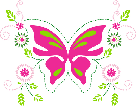Schmetterling floralen Ornament