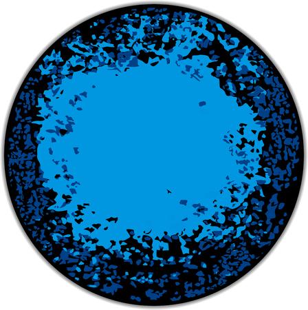 round: Abstract blue round frame