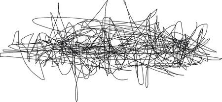 Mano garabato dibujado Ilustración de vector
