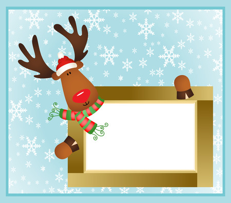 cervidae: Christmas reindeer frame