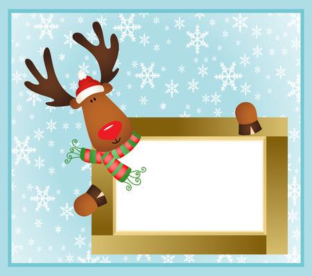 Christmas reindeer frame