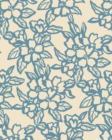 retro wallpaper: Romantic Seamless Flowers Background Illustration
