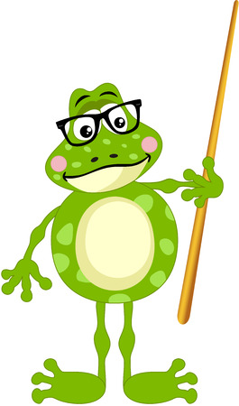anura: Cute frog teacher Illustration