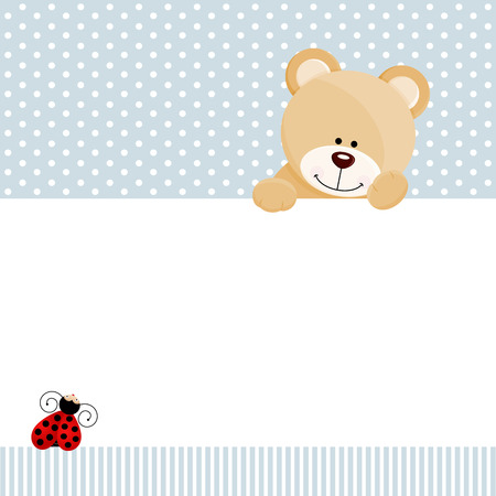 Teddy bear and ladybird design Illustration