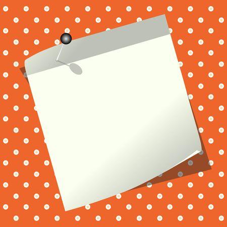 sticky notes: Blank sticky notes on orange background Illustration
