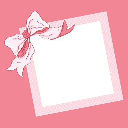 Pink frame and ribbon