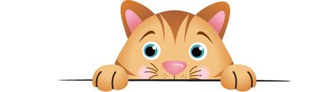 Cute cat peeking Illustration