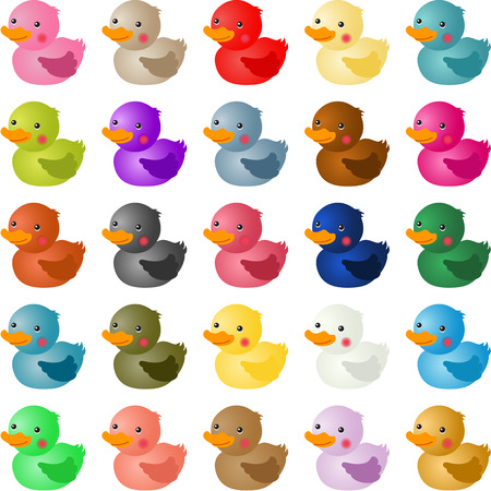 swims: Colorful baby shower duck Illustration