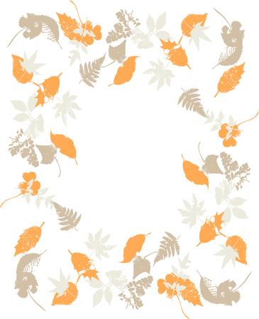 Frontera del vintage de las hojas de otoño