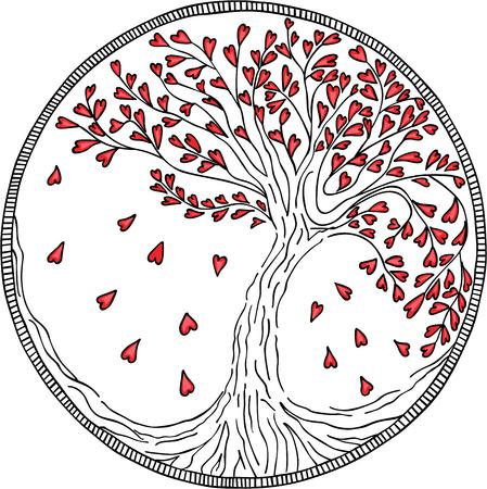 Round Tree of Love Illustration
