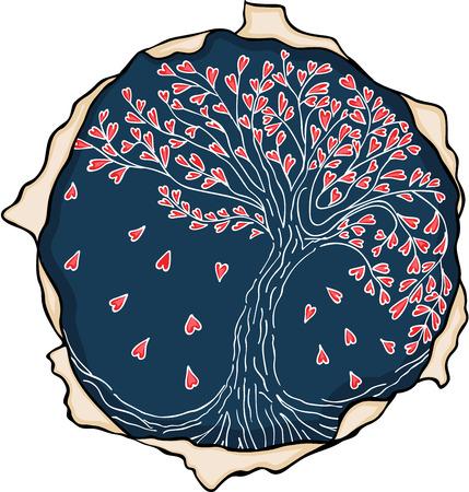Emblem love tree Banco de Imagens - 78406913