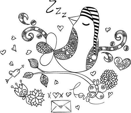 Dream cute sheep sleeping Vektorové ilustrace