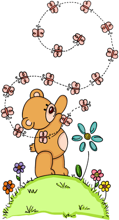 jubilation: Teddy bear and butterflies