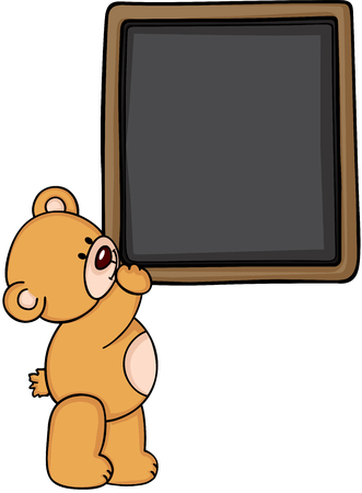 jubilation: Teddy bear with blackboard Illustration